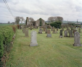 Distant view from graveyard from W.