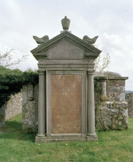 View of Mary Hunter tomb from 1779 by SW church entrance.