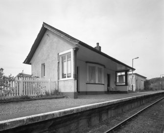 Morar Station and Post Office Oblique view of station building from SE