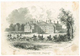 Engraving showing view of Dalkeith Palace
