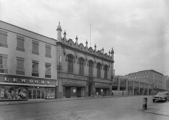 View of Trinity Hall, Union Street, Aberdeen, from NE showing Union Street facade and McMillan's.