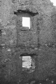 Interior view of Hunter's Lodge, Mormond Hil showing detail of windows.