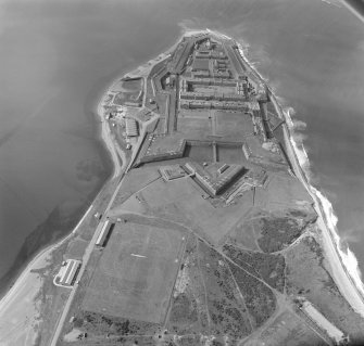 Oblique aerial view of Fort George.