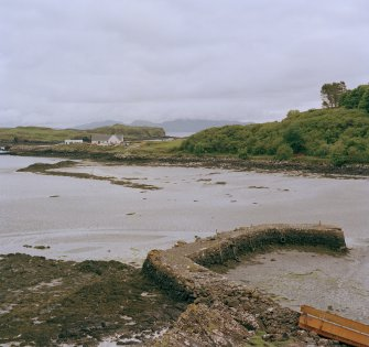 Eigg, Galmisdale Bay, Clanranald Harbour. View of and fishtraps from harbour.