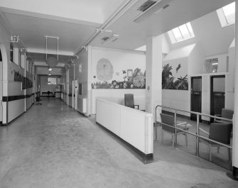 Royal Infirmary. Interior, general view of reception, waiting area.