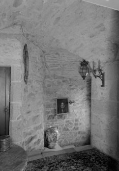 Interior view of Lickleyhead Castle showing the old stair.
