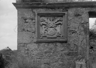Detail of Bothwell of Glencorse panel on Glencorse aisle, Glencorse Old Parish Church.