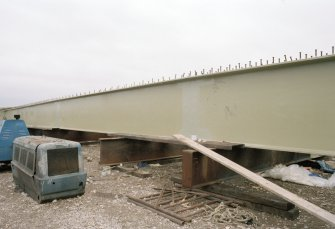 Newburgh, New Waterside Bridge Frame 2: General view of fabricated main beams, prior to assembly of bridge.