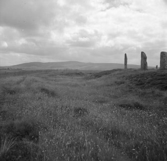 Ring of Brodgar - general view of the monoliths and ditch.