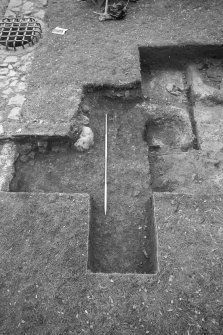 Jedburgh Abbey excavation archive Frame 26: Area 3: Trench R: Record shot of eastern extension.