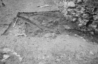 Inverlochy Castle Frame 3 - South end of seagate trench after removal of topsoil; from east