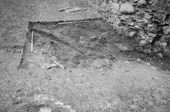 Inverlochy Castle Frame 4 - South end of seagate trench after removal of topsoil; from east