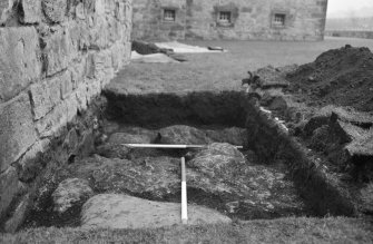 Newark Castle Frame 11 - Trench AA - from west