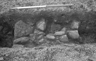 Newark Castle Frame 1 - Trench N: wall F115 - from north