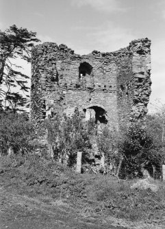 View of the remains of Cockburnspath Tower from SW.