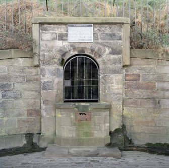 Holyrood Park: view of central structure of St Margaret's Well