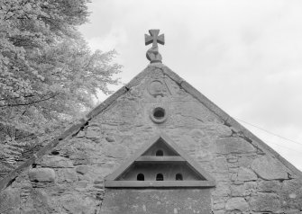 Detail of dovecot on farm building, Towie Barclay Castle.