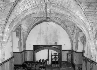 Interior view of Towie Barclay Castle showing Great Hall.