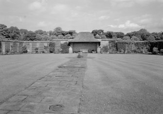 View of walled garden, Donibristle House.