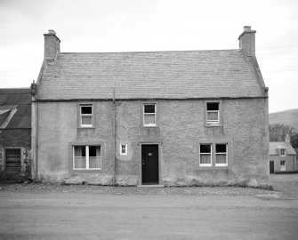 Reconditioned 18th-century house in Kirk Yetholm. View from SE.