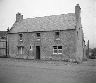 Reconditioned 18th-century house in Kirk Yetholm. View from E.