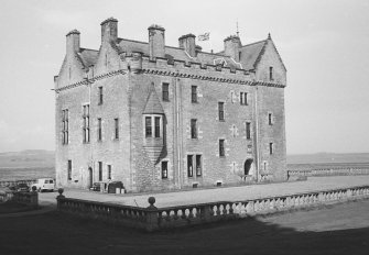 Barnbougle Castle. View from South West.