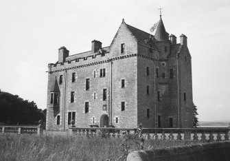Barnbougle Castle. View from South East.