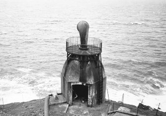 Mull of Kintyre Lighthouse. General view of foghorn.