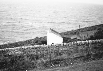Mull of Kintyre Lighthouse. External view of privy.