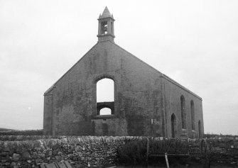 Oa Church, Risabus, Islay. General view of derelict, roofless church.