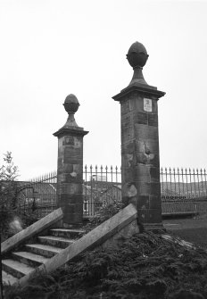 General view of Terrace Road gatepiers.