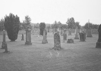 Findo Gask Churchyard. General view.