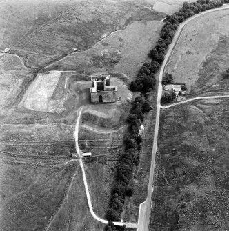 Hermitage Castle Aerial view from the West