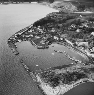 Aerial view of Charlestown including Harbour and Limekilns