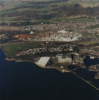 Oblique aerial view centred on the Alumina Works, taken from the SSW.