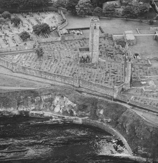 Aerial view of Cathedral and St Rule's Church