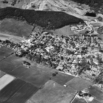 Strathpeffer, oblique aerial view, taken from the ENE, showing a general view over Strathpeffer.