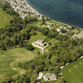 Aerial view of Cromarty House and Stables block, taken from the ESE.