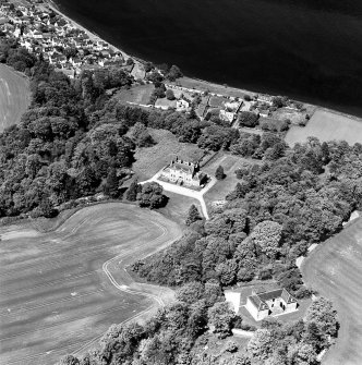 Aerial view of Cromarty House and Stables from the S.
