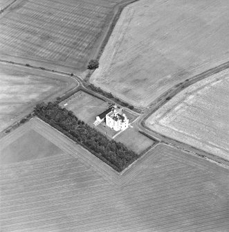 Oblique aerial photograph centred on Falside Castle, taken from the S.