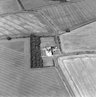 Oblique aerial photograph centred on Falside Castle, taken from the SE.