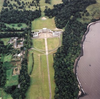 Oblique aerial view centred on Hopetoun House, taken from the E