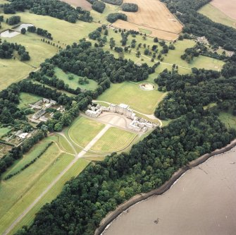 Oblique aerial view centred on Hopetoun House, taken from the ENE