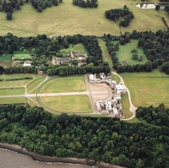 Oblique aerial view centred on Hopetoun House, taken from the N