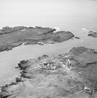Oblique aerial photograph of Orsay Island and Port Wemyss, Islay, taken from the E.