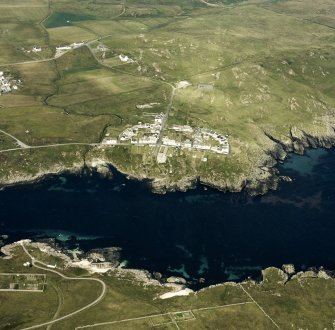 Oblique aerial photograph of Port Wemyss, Islay, taken from the SW.