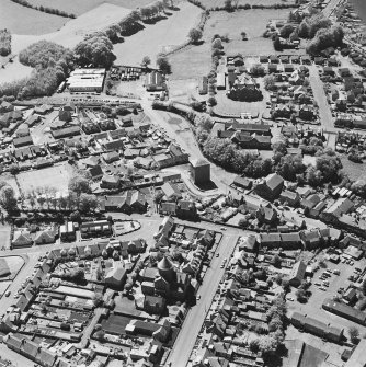Aerial view of Bentinck Street Church and Barr Castle, taken from the ENE.