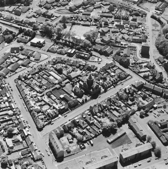 Aerial view of Bentinck Street Church and Barr Castle, taken from the NE.