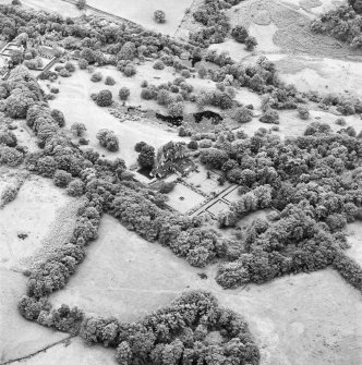 Formakin, oblique aerial view, taken from the NE, showing Formakin House in the centre of the photograph, and Formakin Mill in the top left-hand corner.