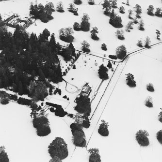 Abercairny House, oblique aerial view, taken from the W.
